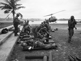 Vietnam Wounded Evacuation 1968 Photographic Print by  Associated Press