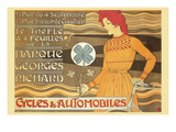 Cycles and Automobile by Marque George Richard Prints by Alphonse Mucha