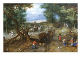 A Woodland Road with Travelers Prints by Jan Brueghel the Elder