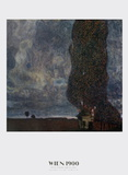 The Approaching Storm (The Large Poplar) Print by Gustav Klimt