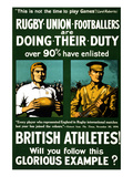 British Athletes! Will You Follow This Glorious Example Premium Giclee Print by Riddle & Co, Johnson