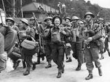 WWII Europe France British Troops Debark Landing Photographic Print by  Anonymous