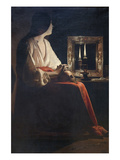 The Penitent Magdalen Prints by Georges de La Tour