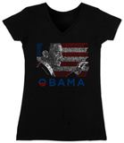 Juniors: V-neck - Barack Obama T-Shirt
