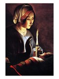 St Anne with the Christ Child by La Tour Prints by Georges de La Tour