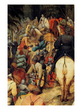 Conversion of St.Paul - Detail Posters by Pieter Breughel the Elder