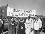 African American Anti-Voting Civil Rights Marchers Honolulu Group Photographic Print by  Anonymous