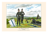 1st Middlesex Victorian Rifles - Volunteers Print by Walter Richards