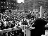 Malcolm X Harlem Rally Photographie par  Anonymous