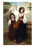 Violin in the Country Print by William Adolphe Bouguereau