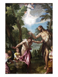 The Baptism of Christ by Veronese Poster von Paolo Veronese