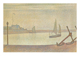 The Channel at Gravelines in the Evening Poster van Georges Seurat