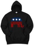 Hoodie: GOP Logo - Grand Old Party Pullover Hoodie