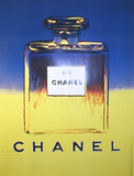 Chanel (Yellow and Blue) Collectable Print by Andy Warhol