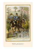 Hanoverian Cavalry Patrol 16th Dragoon Regiment Print by G. Arnold