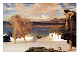 Greek Girls Playing Ball Posters by Frederick Leighton