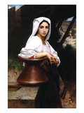 Italian Girl Drawing Water Posters by William Adolphe Bouguereau