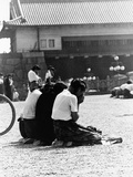 WWII Japanese Mourn VJ Day 1945 Photographic Print by  Anonymous