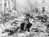 WWII Warsaw Air Raid Aftermath Photographic Print by Julien Bryan
