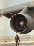 Saudi Arabia Army U.S. C-5 Galaxy Cargo Plane Photographic Print by Sadayuki Mikami