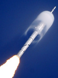 YE Moon Rocket Test Photographic Print by Chris O'Meara
