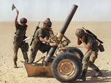 Saudi Arabia Army French Troops Guns 120mm Mortar Photographic Print by John Gaps III