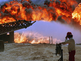1991 Gulf War Oil Fires Photographic Print by Martn Nangle