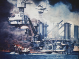 USS West Virginia Pearl Harbor Photographic Print by  Anonymous