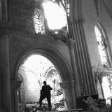 WWII Destroyed Church France Photographic Print