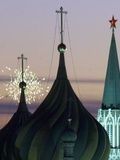 Russia Kremlin Fireworks Photographic Print by Mikhail Metzel
