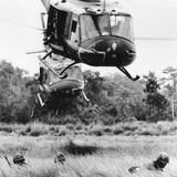 Vietnam War Helicopter Landing Photographic Print by Horst Faas