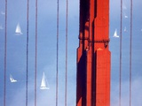 Golden Gate Bridge Sailboats Photographic Print by Ben Margot
