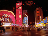Vegas Strip Lights 1973 Photographic Print by  Anonymous