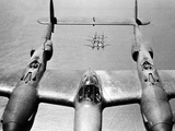 WWII U.S. Lockheed P38 Lightning Photographic Print by  Anonymous