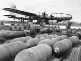 WWII Loading U.S. Bombers Photographic Print by  Anonymous