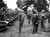 WWII Churchill Inspects Troops Photographic Print by  Anonymous