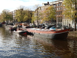 Travel Trip Amsterdam by Houseboat Photographic Print by Terry Kole