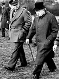 Eisenhower Churchill Fotografie-Druck