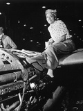 Aircraft Plant Female Riveter Photographic Print by  Anonymous