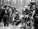 Vietnam War U.S. Marines Zone D Photographic Print by Henri Huet