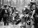 Vietnam War U.S. Marines Zone D Photographic Print by Henri Huet