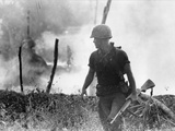 Vietnam War U.S. Marine Photographic Print by  Associated Press
