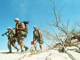 U.S. Marines Desert March Photographic Print by Dave Martin