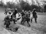 Vietnam War Wounded Vietnamese Photographic Print by  Associated Press