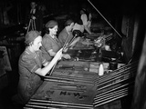 WWII England Munition Workers Photographic Print by  Anonymous