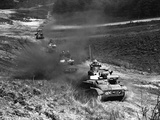 WWII England Tanks Training Photographic Print