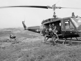 Vietnam War U.S. Troops HU1 Huey Photographic Print by Rick Merron