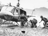 Vietnam War Hamburger Hill US Wounded Photographic Print by  Associated Press