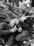 Vietnam War Wounded Medic Photographic Print by Henri Huet