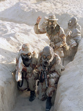 Gulf War US Troops 1991 Photographic Print by Sadayuki Mikami